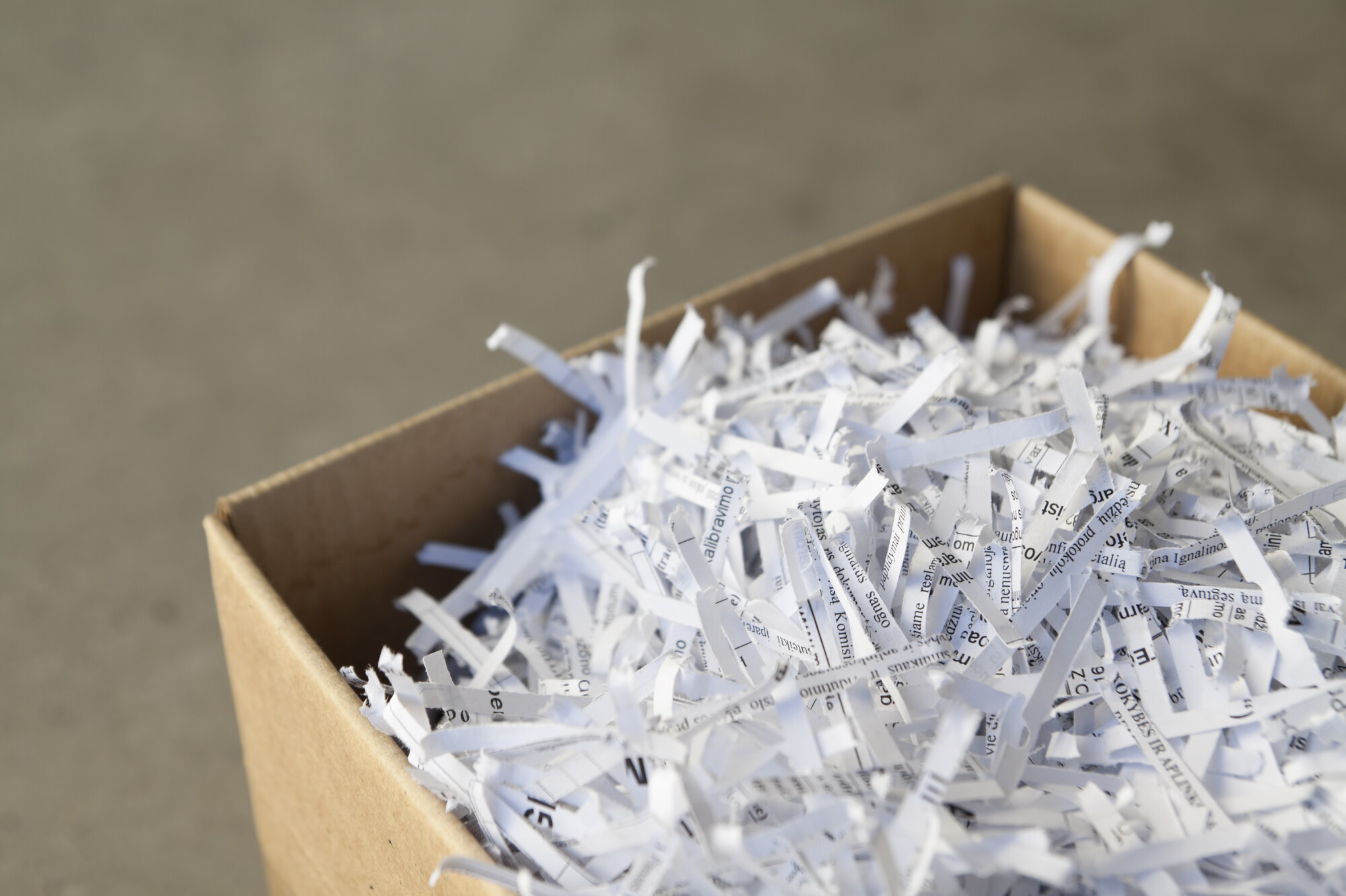 Shredding service company serving waltham ma residential for Document shredding pick up